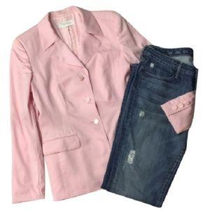 ESCADA $1495 pink blazer wool pastel 38 6